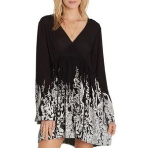 Billabong baby doll long sleeve dress